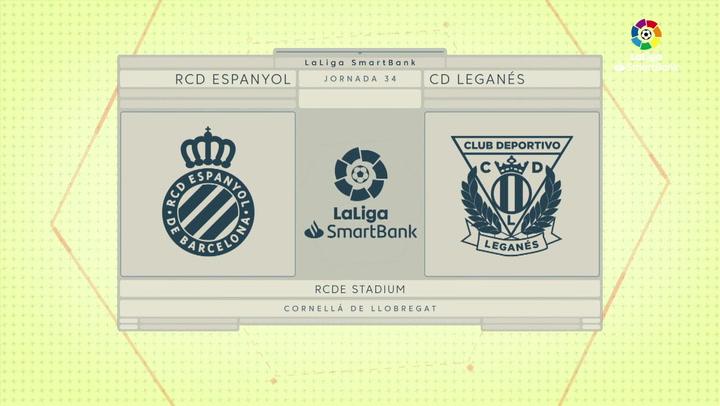LaLiga SmartBank (J34): Resumen y goles del Espanyol 2-1 Leganés