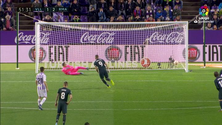 LaLiga: Valladolid-Real Madrid. Gol de Benzema de penalti (1-2)