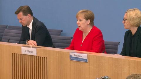 Merkel: ataques de Trump contra las congresistas son contrarios a la