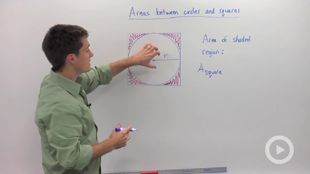Regions Between Circles And Squares  Concept  Geometry Video By  Brightstorm