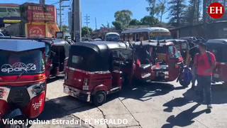 Conductores de mototaxis realizan protesta en colonia Alemania de la capital