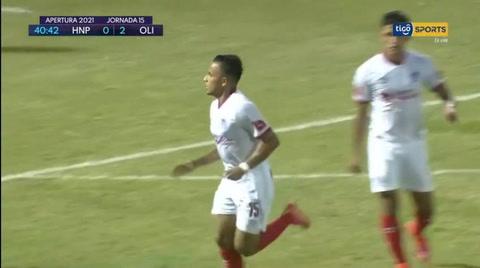 ¡Golazo! Edwin Rodríguez puso el 2-0 para Olimpia ante el Progreso