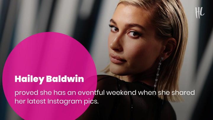 Hailey Baldwin Gets Cheeky In Sexy New Bikini Pics From Tropical 'Gals' Weekend'
