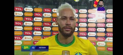 Neymar rompe a llorar tras la goleada de Brasil ante Perú