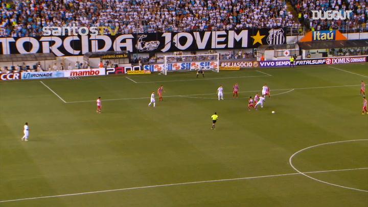 El gran partido de Neymar ante Botafogo-SP en el 2013