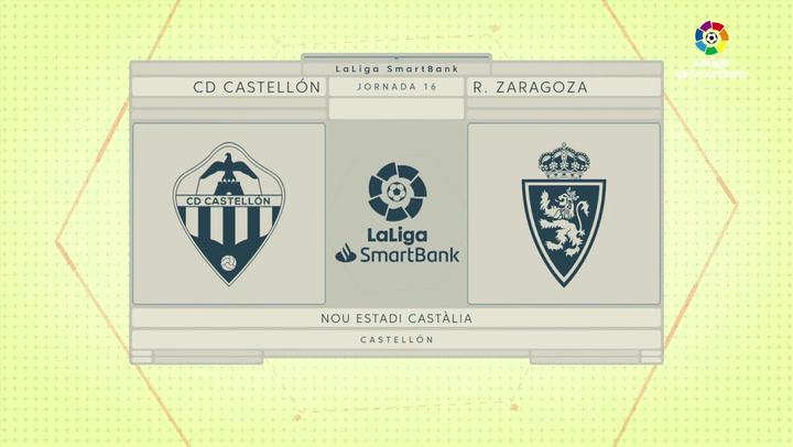 LaLiga SmartBank (J16): Resumen y goles del Castellón 1-0 Zaragoza