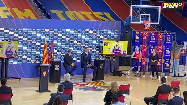Pau Gasol, presentado en el FC Barcelona