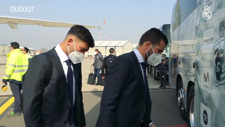 Real Madrid have arrived in Bergamo