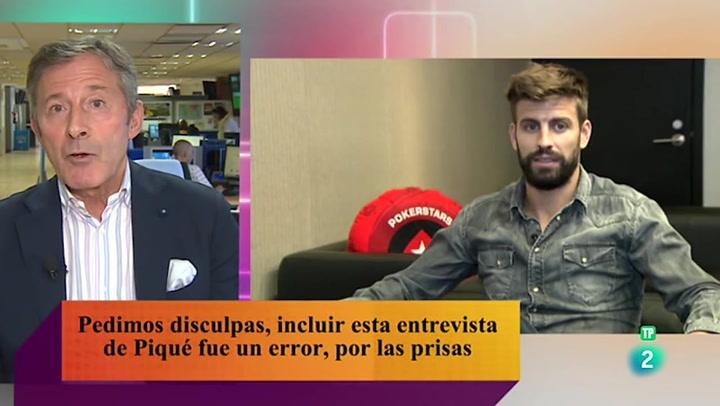 "TVE pide perdón por un reportaje sobre Piqué: ""Ante todo, disculpas a los espectadores"""