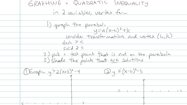 Graphing a Quadratic Inequality - Problem 5