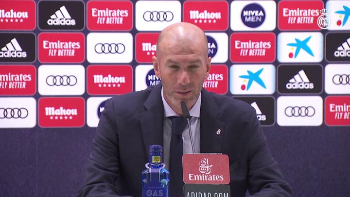 """Zidane: """"Ya estamos notando el cansancio"""""""