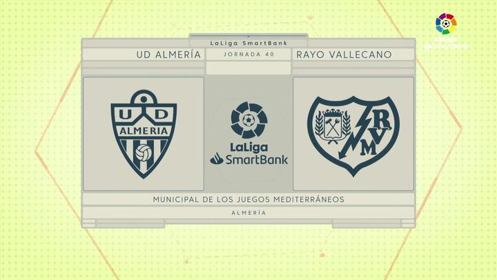 LaLiga SmartBank (J40): Resumen y goles del Almería 3-2 Rayo Vallecano