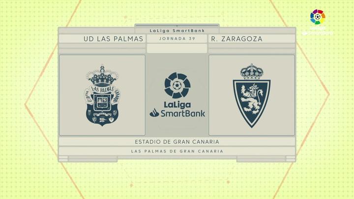 LaLiga SmartBank (J39): Resumen y goles del Las Palmas 0-2 Zaragoza