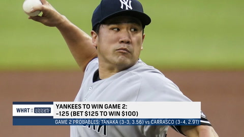 What are the odds for the Yankees in Game 2 against the Indians?