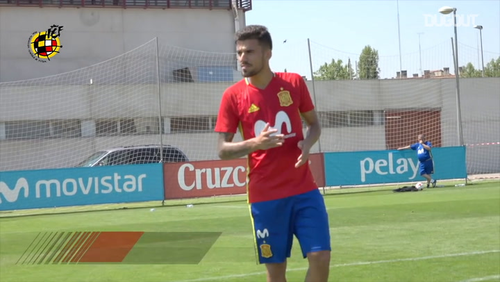 Dani Ceballos' free-kick exhibition in training