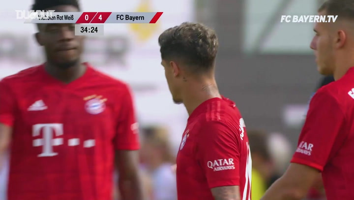 Philippe Coutinho's First Goal For Bayern