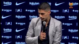 Luis Suárez rompe a llorar en conferencia de prensa en el día de su despedida como jugador de Barcelona