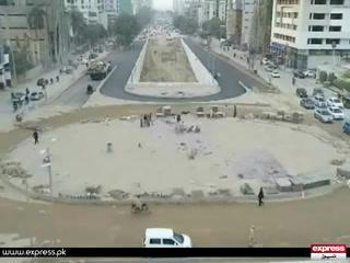 کراچی میں آدھے گھنٹے کی بارش سے7 ماہ پہلے بننے والے انڈر پاس میں شگاف پڑ گیا