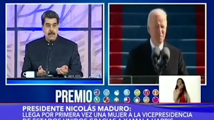 """Maduro invita a Biden a """"nuevo camino"""" en relaciones Venezuela-EEUU"""