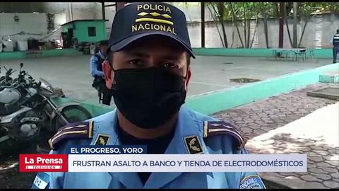 Frustran asalto a banco y tienda de electrodomésticos en El Progreso, Yoro