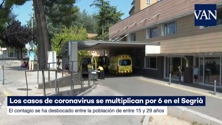 Los casos de coronavirus se multiplican por 6 en la comarca del Segrià