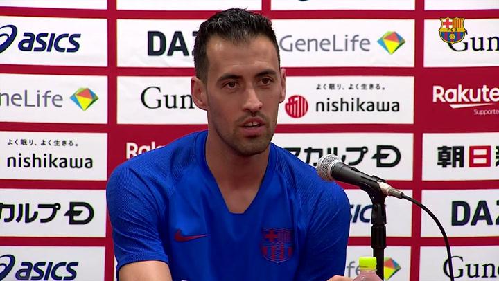 "Busquets: ""De Jong es un grandísimo jugador"""