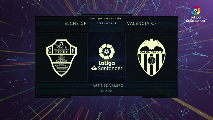 LaLiga (J7): Resumen y goles del Elche 2-1 Valencia