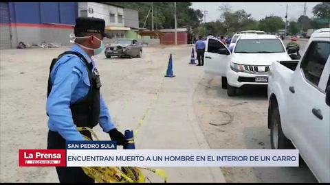 Encuentran muerto a un hombre en el interior de un carro en San Pedro Sula