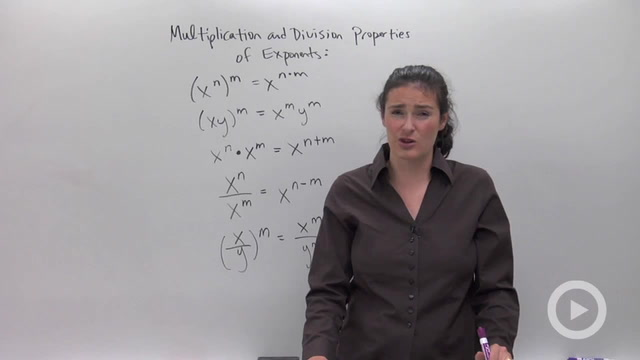 Multiplication and Division Properties of Exponents