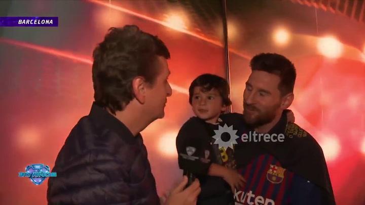 Diego Korol mano a mano con Lionel Messi