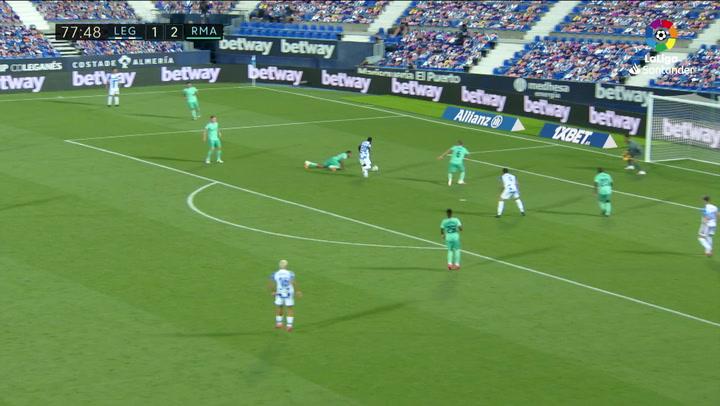 Gol de Assalé (2-2) en el Leganés 2-2 Real Madrid