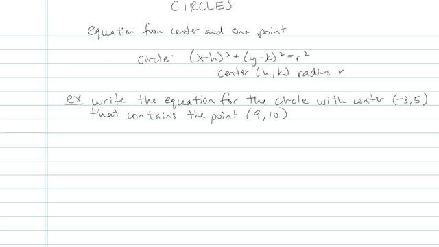 The Circle - Problem 9