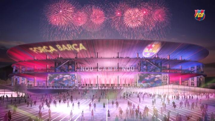 Así será el nuevo Estadio del FC Barcelona, el nuevo Camp Nou.