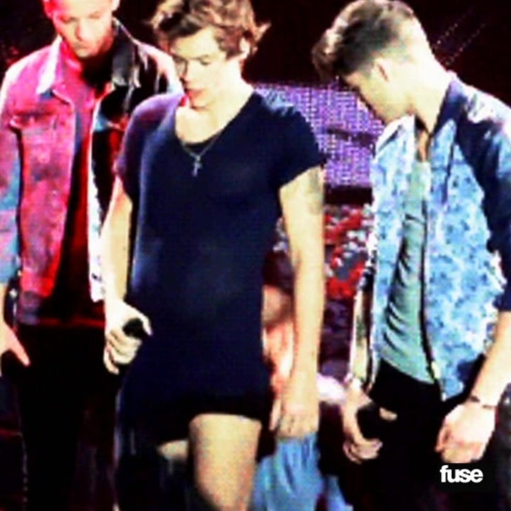 One Direction's Harry Styles Get Pantsed