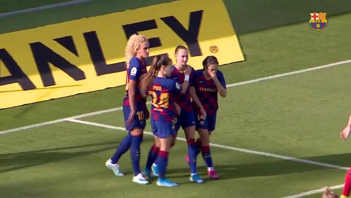 Resumen de la goleada del Barça Femenino al Atlético de Madrid