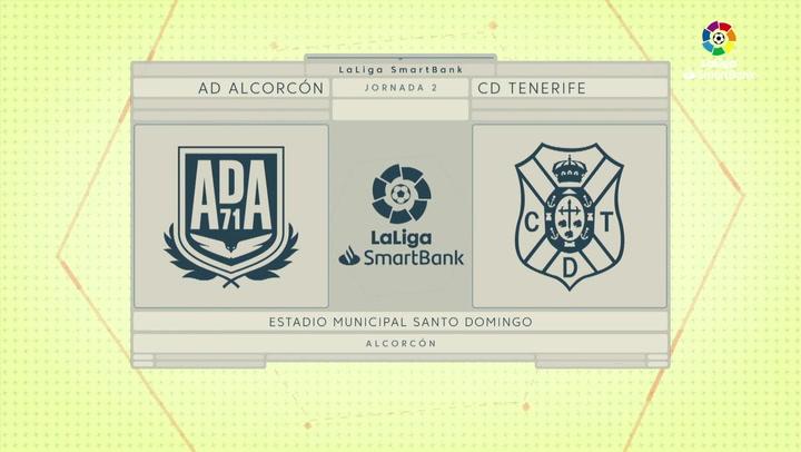 LaLiga Smartbank (Jornada 2): Alcorcón 2-0 Tenerife