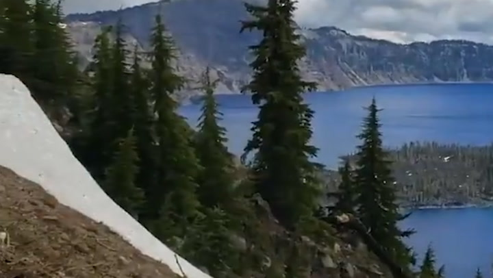 Scenery over Crater Lake