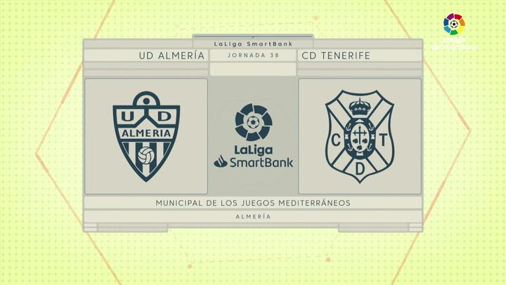 LaLiga SmartBank (J. 38): Almería 1-2 Tenerife