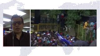 Migrantes hondureños ingresan a México