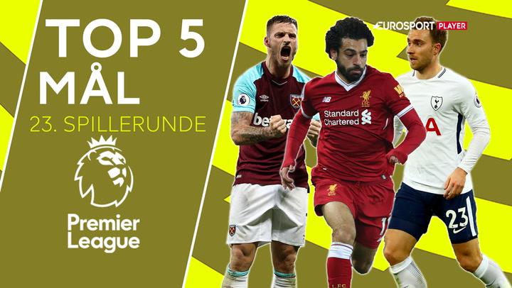 Top 5: Eriksen står for et af Premier League-rundens bedste mål!