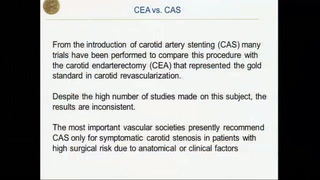 CEA is Superior to CAS: an EBM conclusion