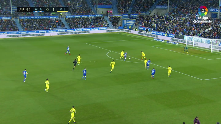 Gol de Joselu (1-1) en el Alavés 1-2 Villarreal