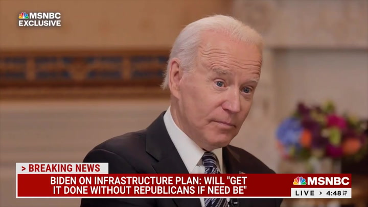 Biden: I'll See If I Can Pass Parts of Infrastructure Bill 'Without Republicans, if Need Be'