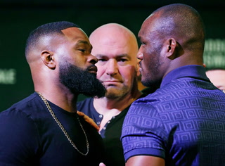 Tyron Woodley and Kamaru Usman Have Heated Exchange At UFC 235 Presser – VIDEO