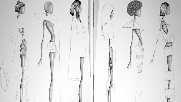 Una auténtica diseñadora: Manuela, hija de Alejandro Sanz, muestra sus bocetos
