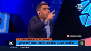 El dia que en Fox Sport pedían a Pedro toglio como entrenador de Argentina