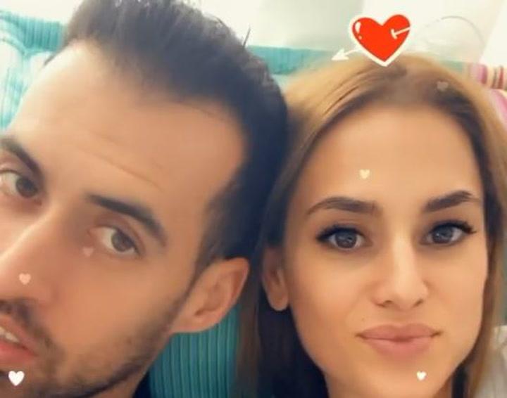 El romántico filtro que Elena Galera pone a Busquets en San Valentín