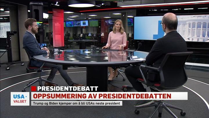 Oppsummering av presidentdebatten