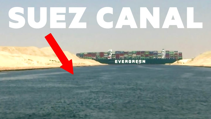 VIDEO: New footage shows tugboats trying to free a massive container ship blocking the Suez Canal