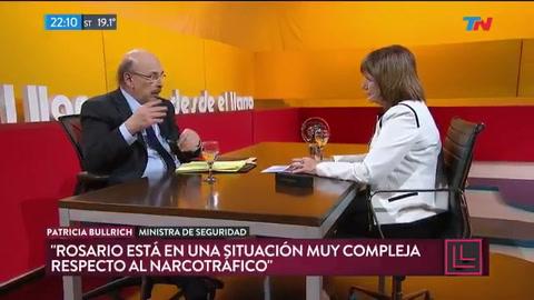 Bullrich aseguró que Rosario está en una situación compleja con el narcotráfico